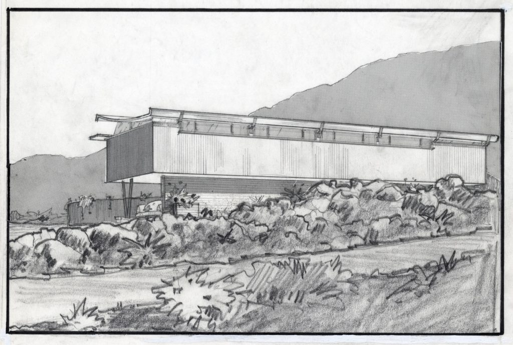 Walter S. White (1917-2002), Dr. Franz Alexander house, Palm Springs, CA, 1955. Image courtesy of Architecture and Design Collection, Art Design & Architecture Museum, UC Santa Barbara. © UC Regents.