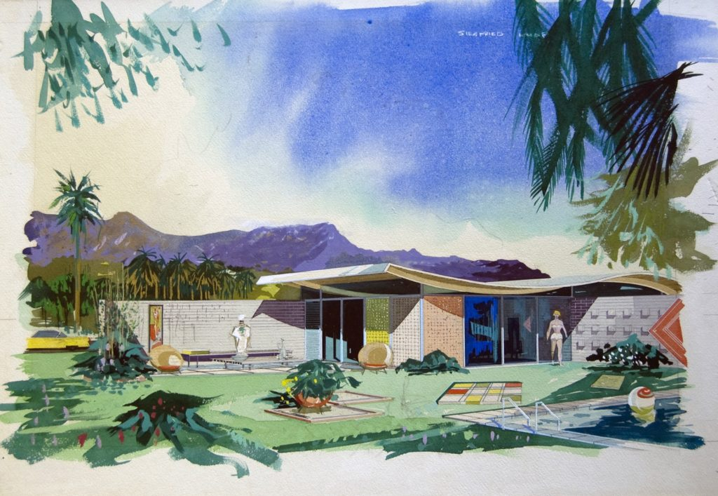 Walter S. White (1917-2002), Miles Bates house, Palm Desert, CA, 1955. Image courtesy of Architecture and Design Collection, Art Design & Architecture Museum, UC Santa Barbara. © UC Regents.